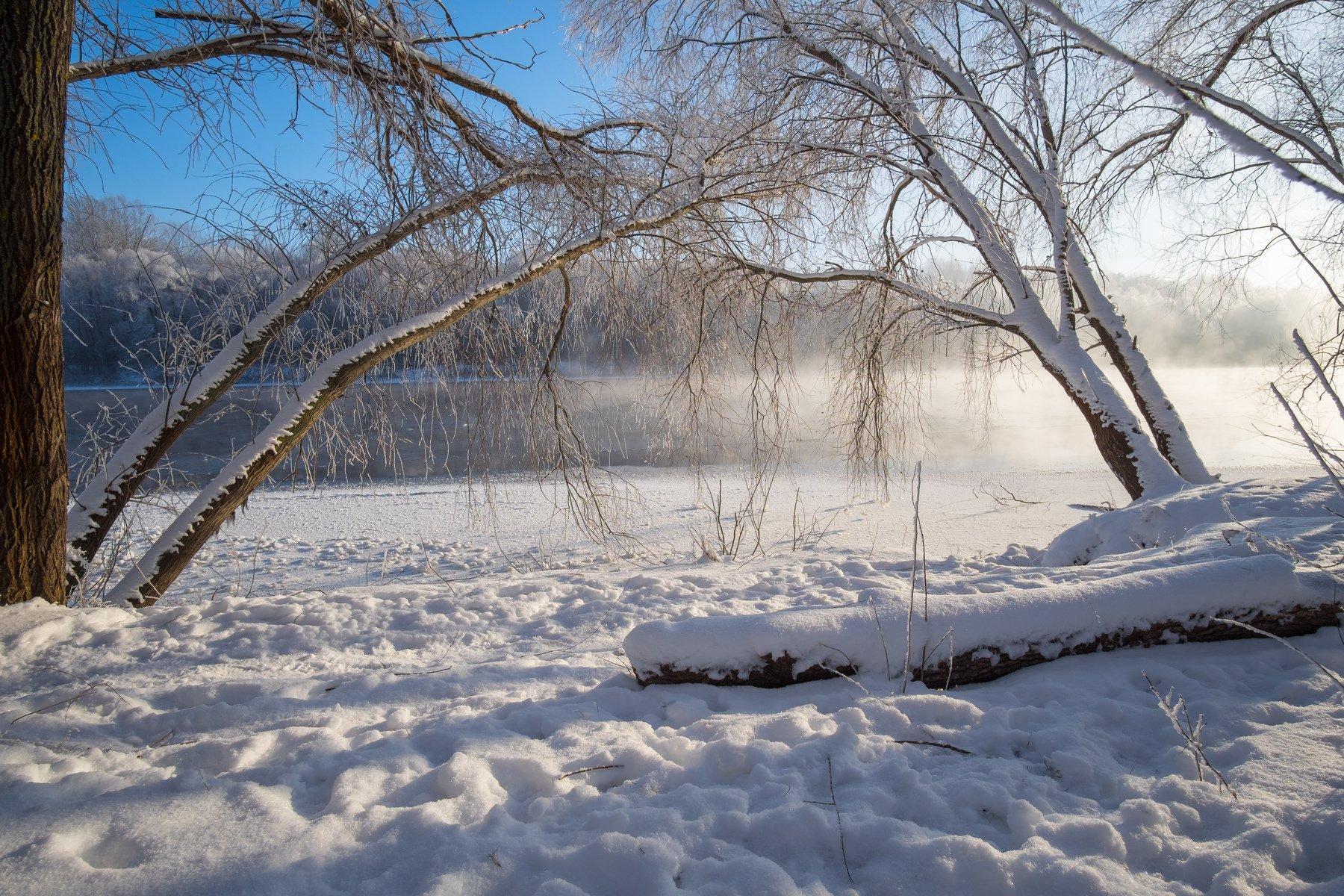 мороз,река,пейзаж,природа,зима,winter,landscape,nature,rivers, Александр Арендарь