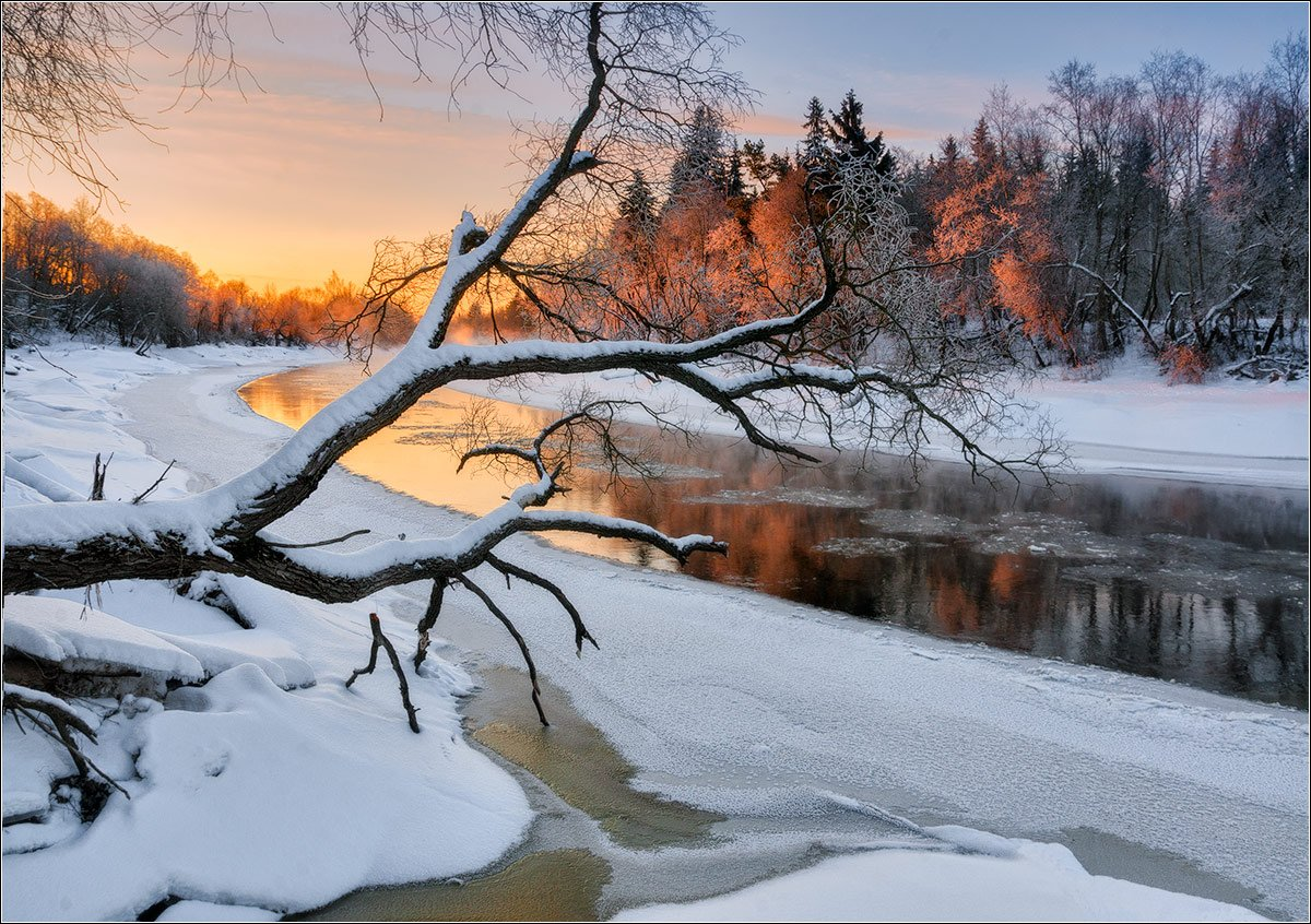 река, зима, беларусь, Andrew Kuzmin