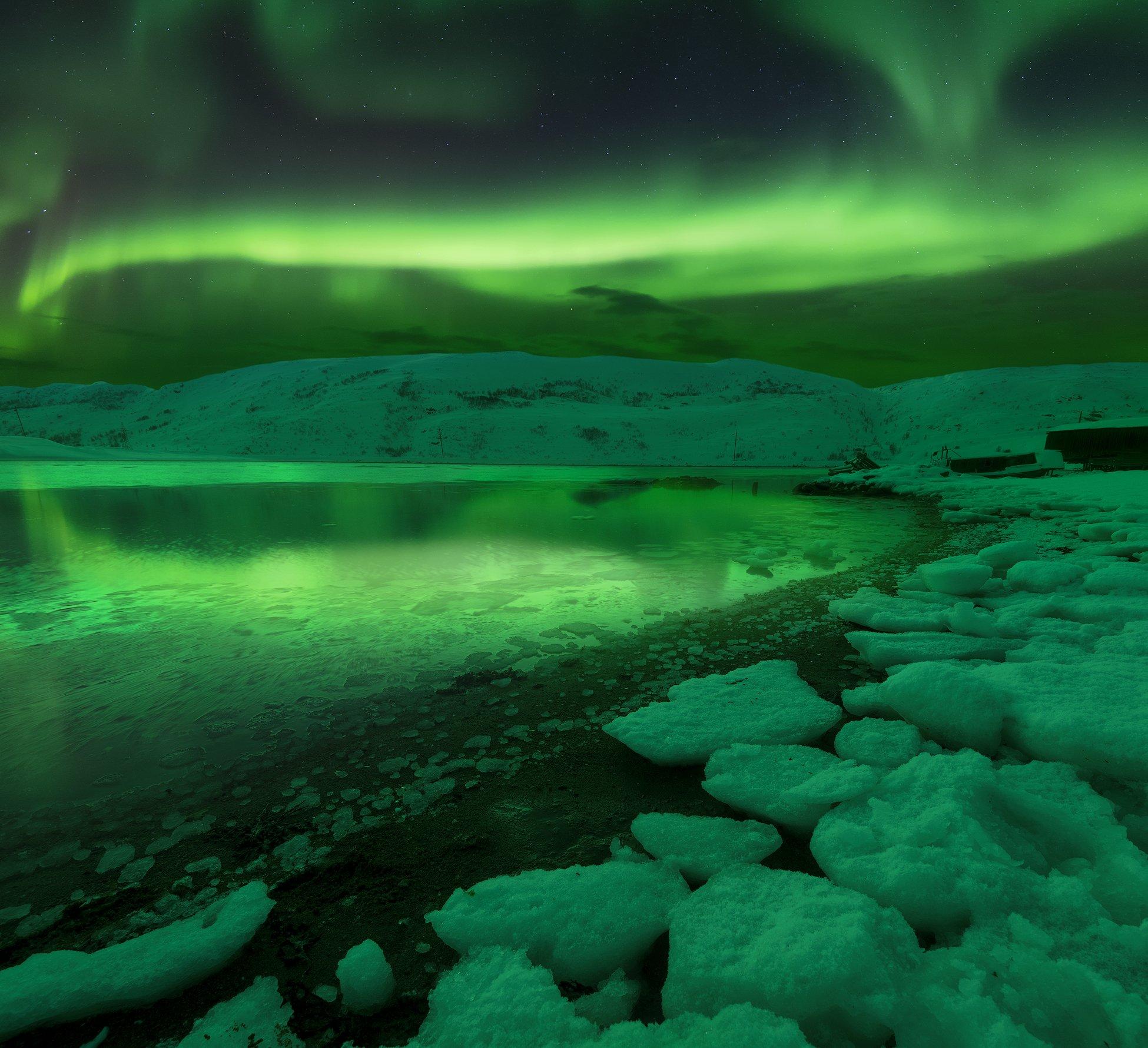 Aurora, theNothern Lights, night, Териберка, Кольский полуостров, Северное сияние, Анастасия Малых