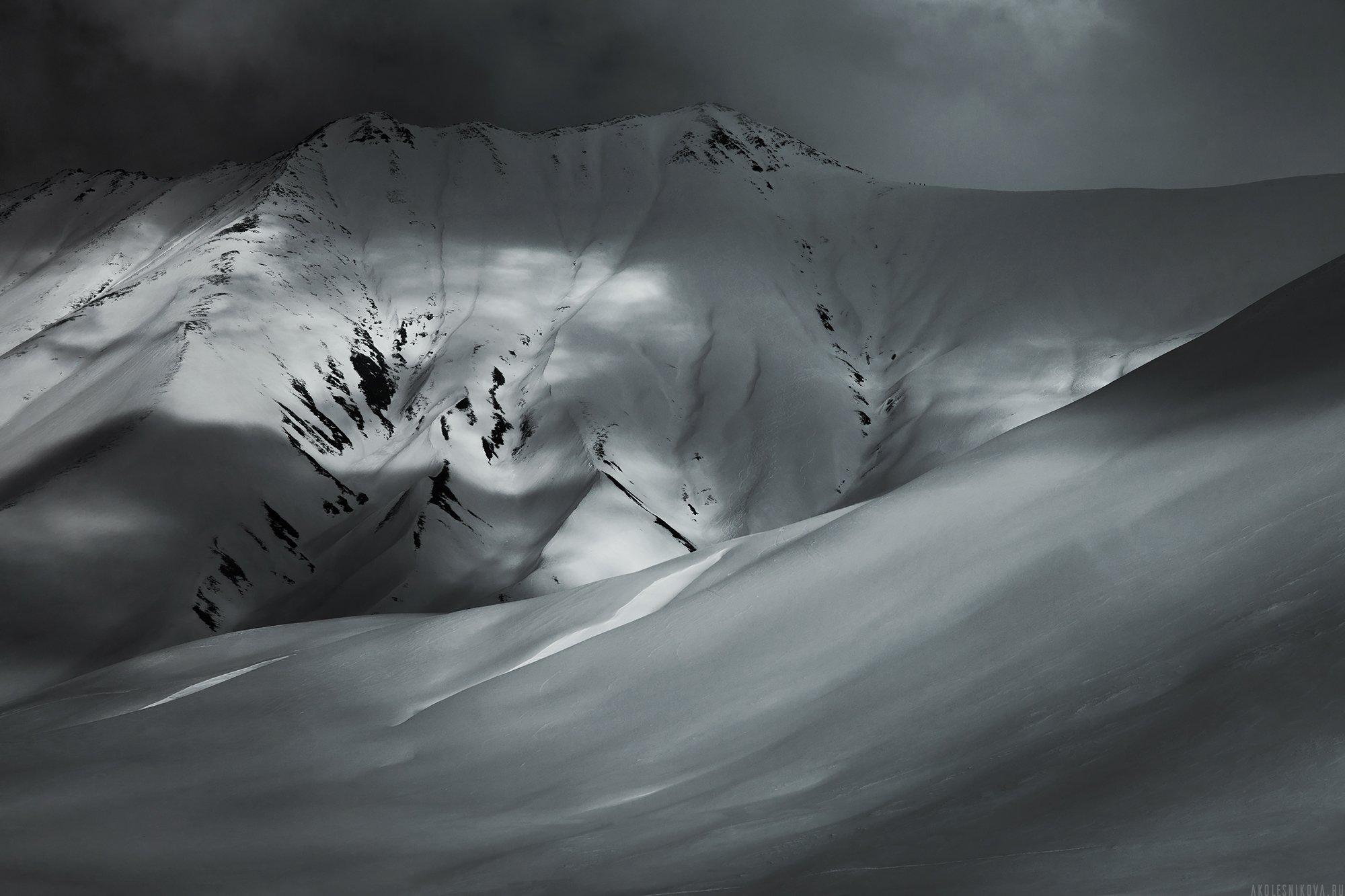горы, зима, снег, грузия, гудаури, зима, снег, грузия, гудаури, Анастасия Колесникова