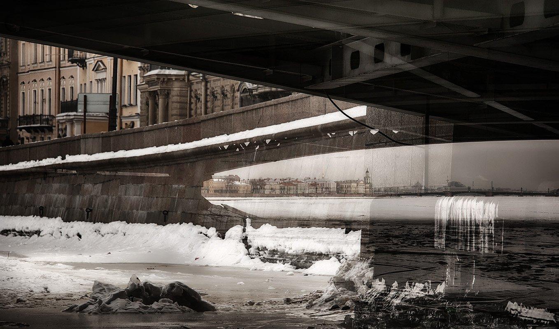 санкт-петербург, нева, набережная, мост, Ольга Александрова