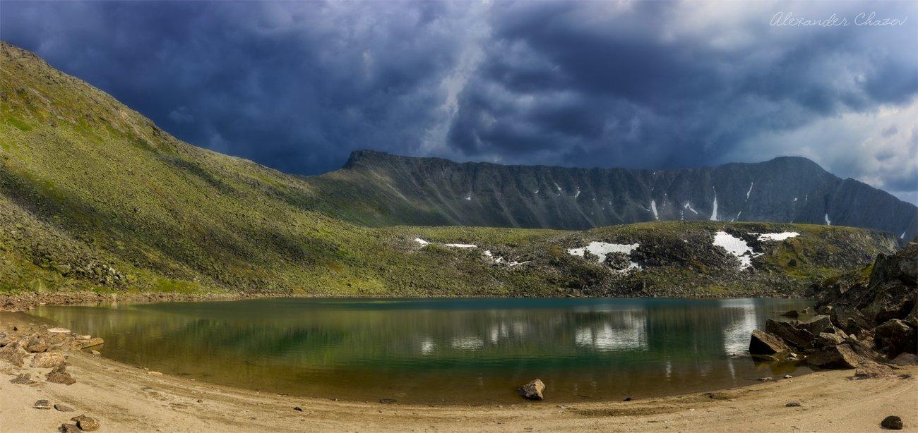 урал, горы, облака, озеро, Александр Чазов