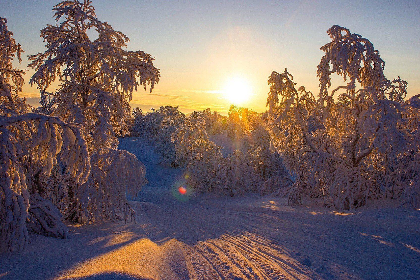 сопки, природа, солнце, снег, сугробы, дорога, север, небо, пейзаж, мороз, Салтыкова Алёна