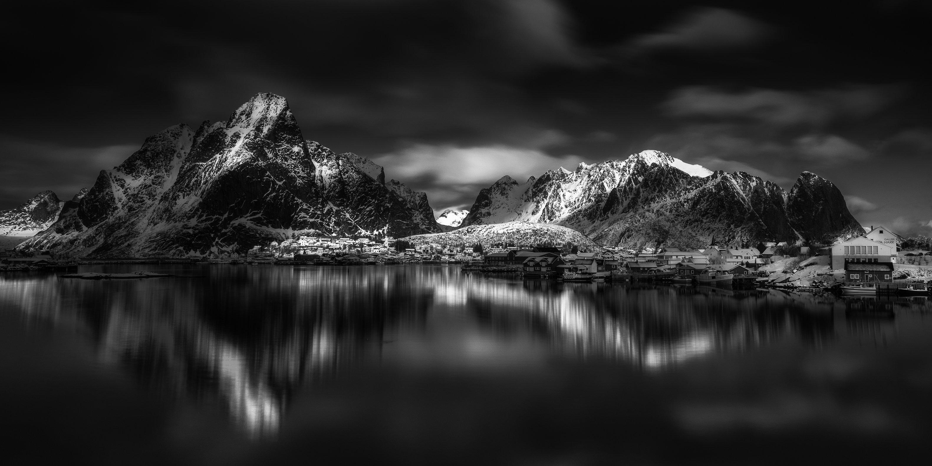 lofoten,bw,landscape, Marek Biegalski