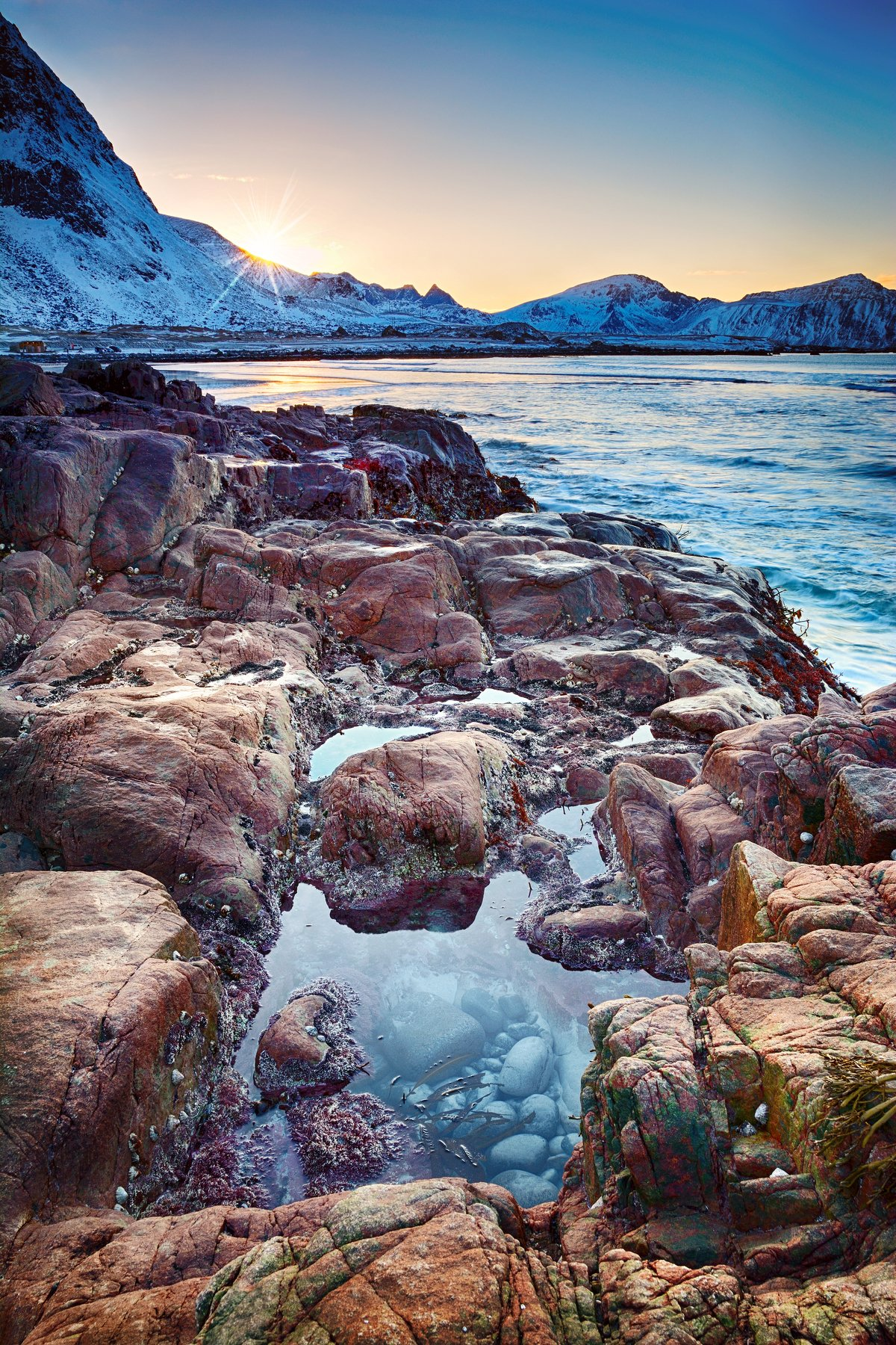 норвегия, лофотены, пляж, закат, beach, lofoten, norway, dawn, sunset, sea, seascape, пейзаж, природа, landscape, nature, Чурсина Виктория
