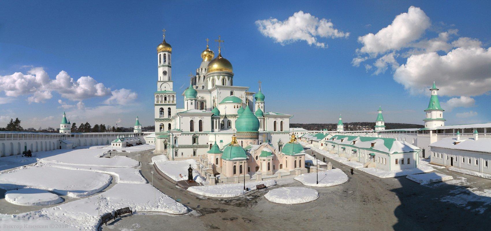 новоиерусалимский монастырь, зима, храм, Виктор Климкин