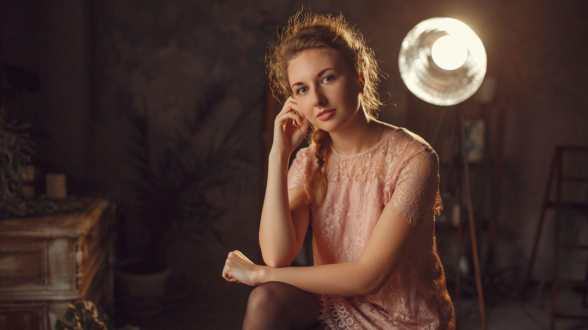 портрет, девушка, студия, свет, Конабевцев Егор