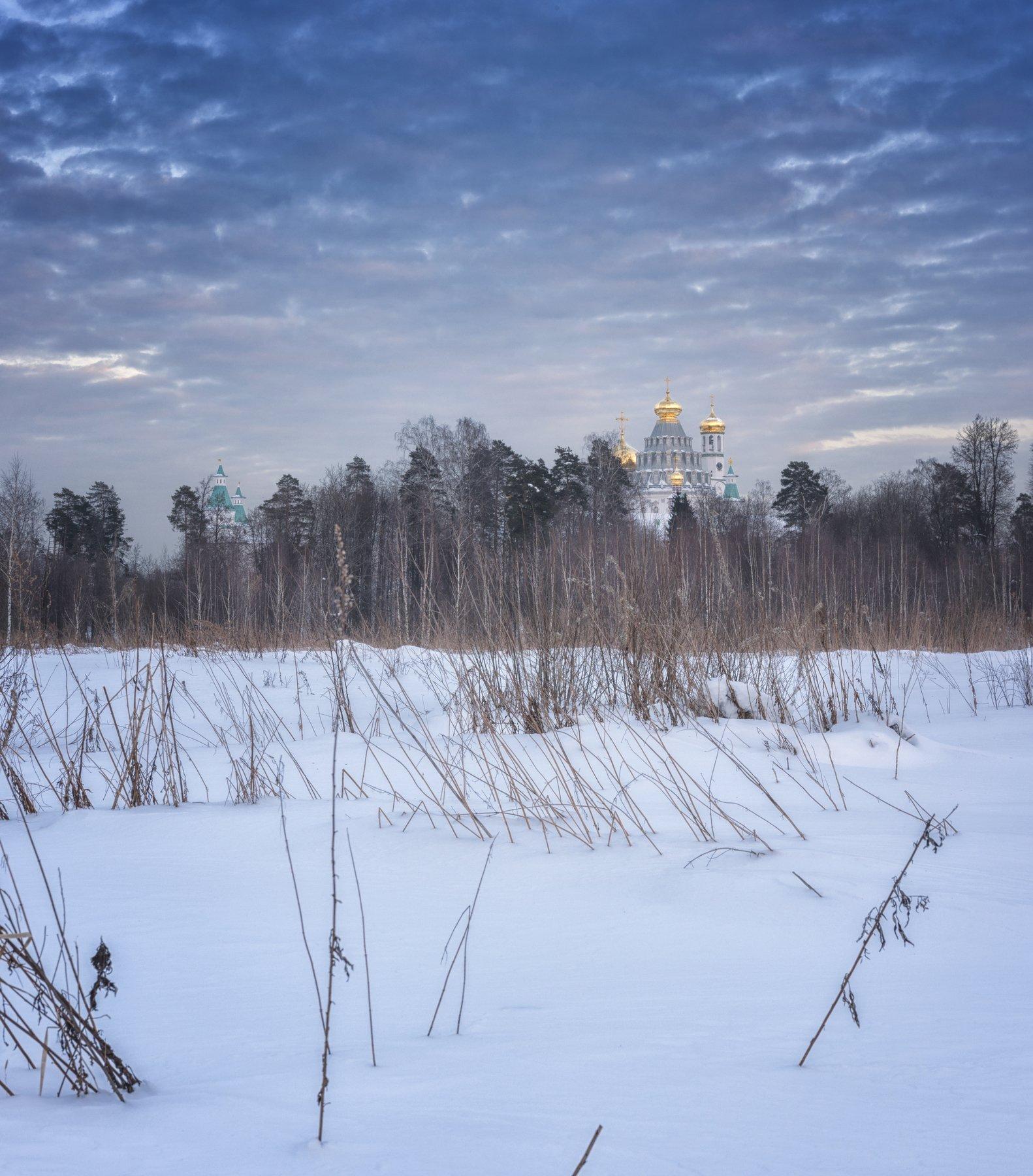 зима,храм,вечер,природа,пейзаж,природа,архитектура, Павел Ныриков