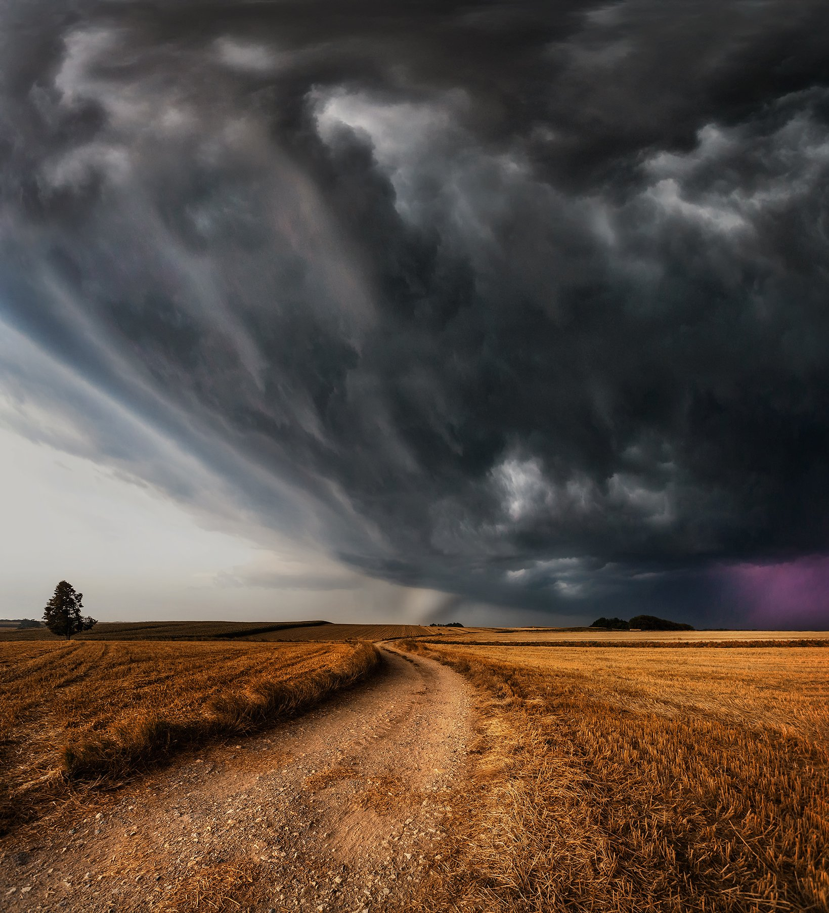 storm, field, fields, Poland, clouds, thunder, wind, summer, , Patrycja