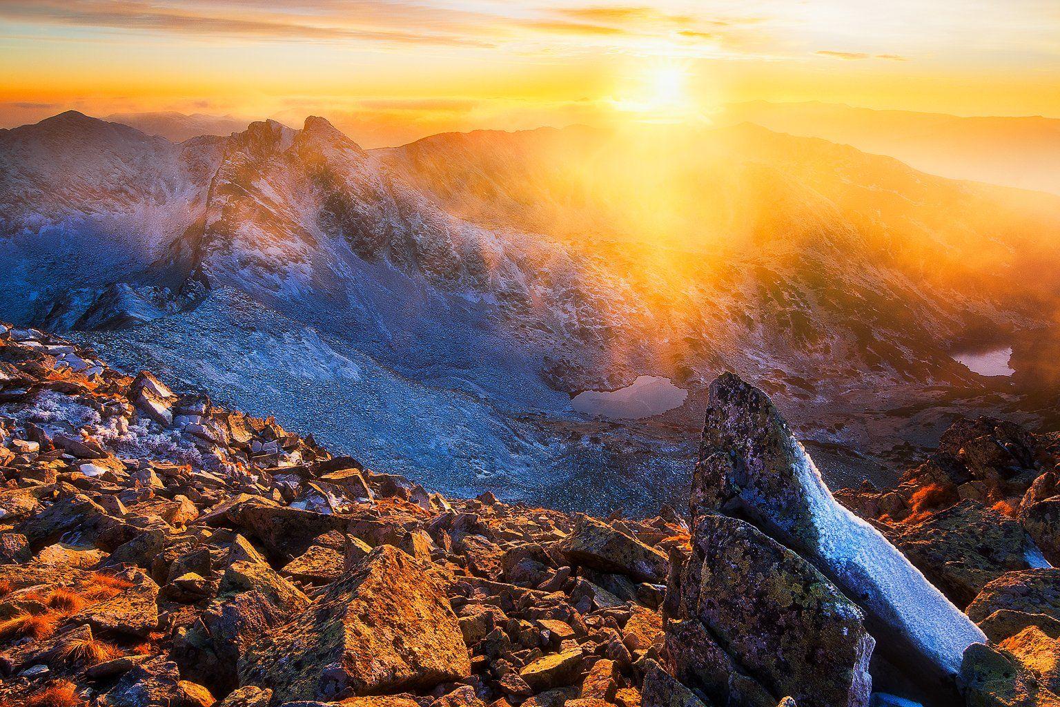 landscape, sunset, retezat, romania, nikon, mountain, Csomai David