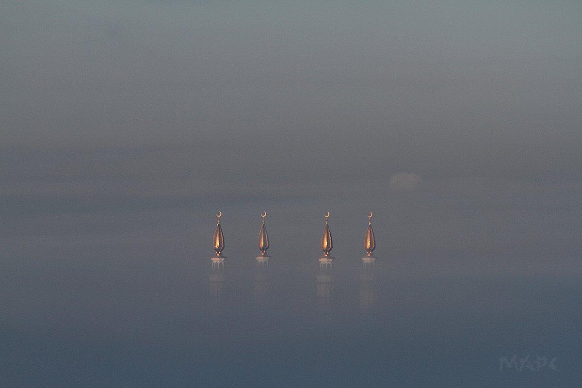 пейзаж туман мечеть, Шангареев Марс