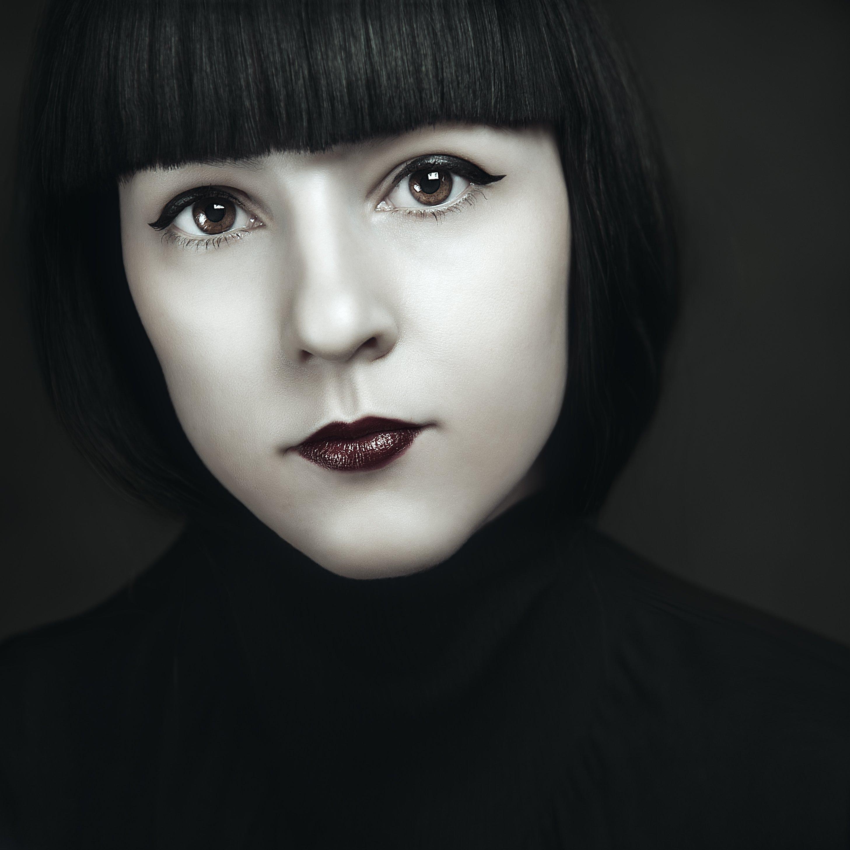 крупный портрет, лицо, портрет, фешн, студия фото, Маховицкая Кристина