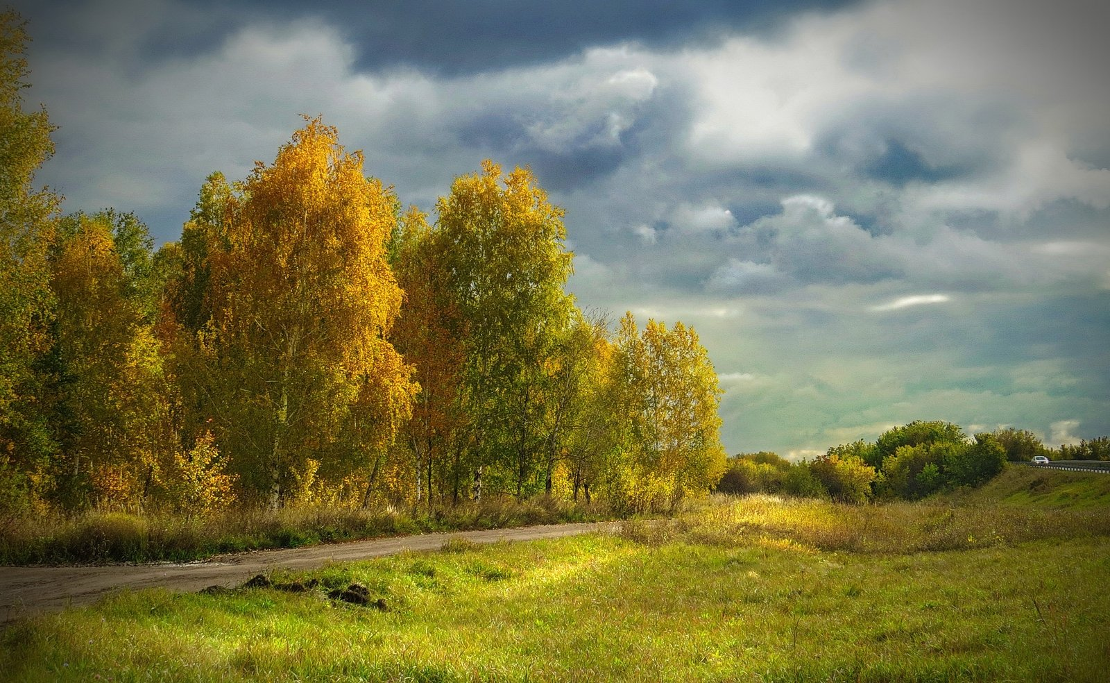 пейзаж,осень,небо,тучи,лучи, красота, Инаида