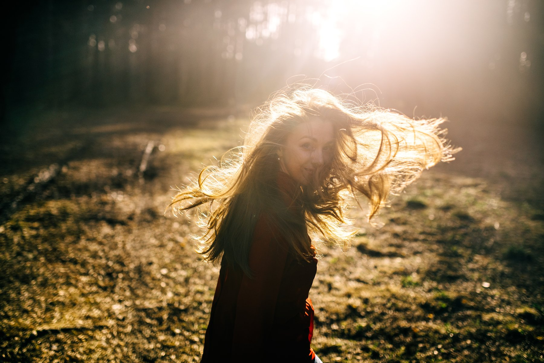 весна, солнце, волосы, ветер, лес, парк, природа, Kirill