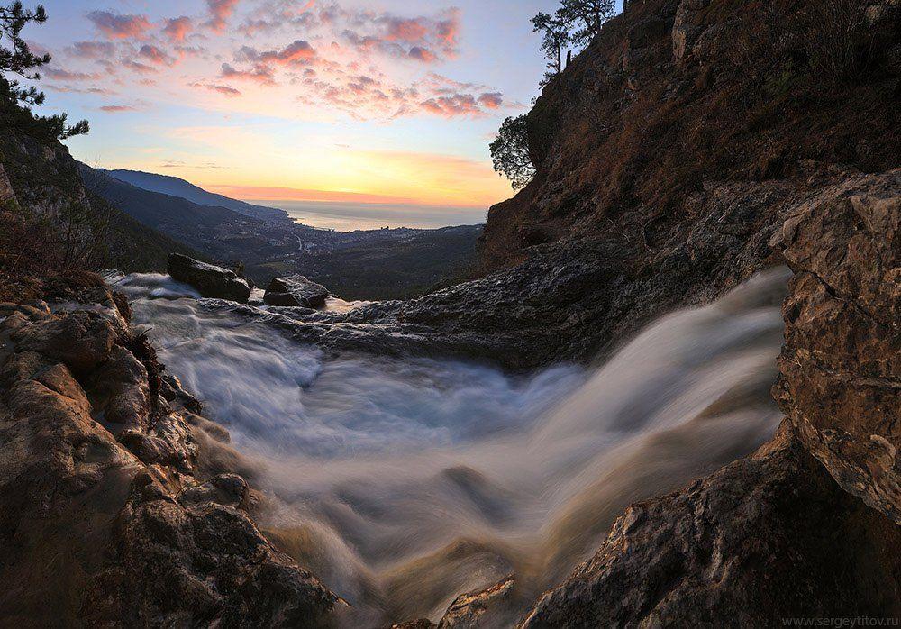 крым, ялта, водопад, река, ручей, учан-су, фотограф крым, фотограф ялта, пейзажи крыма, Сергей Титов