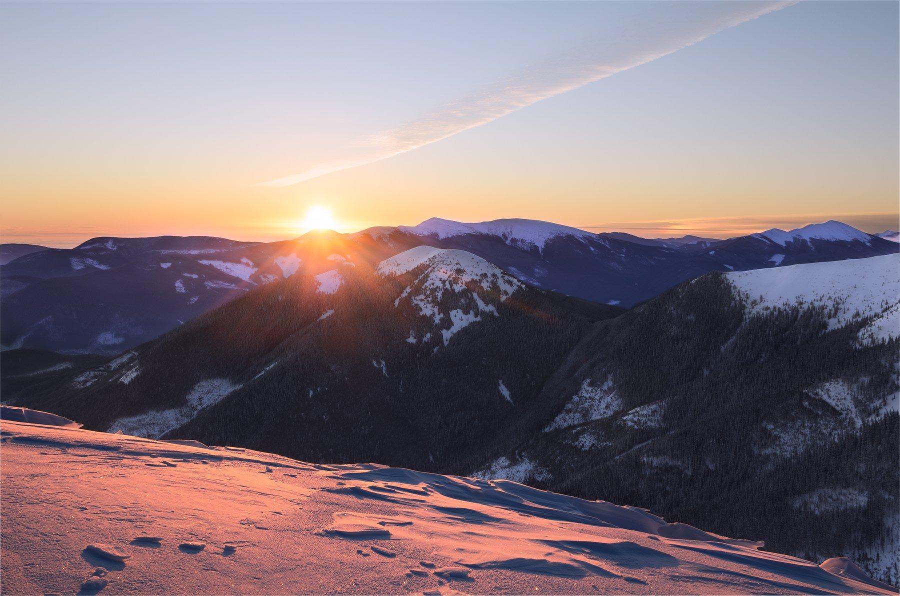 карпаты, горганы, зима, снег, Зинченко Роман