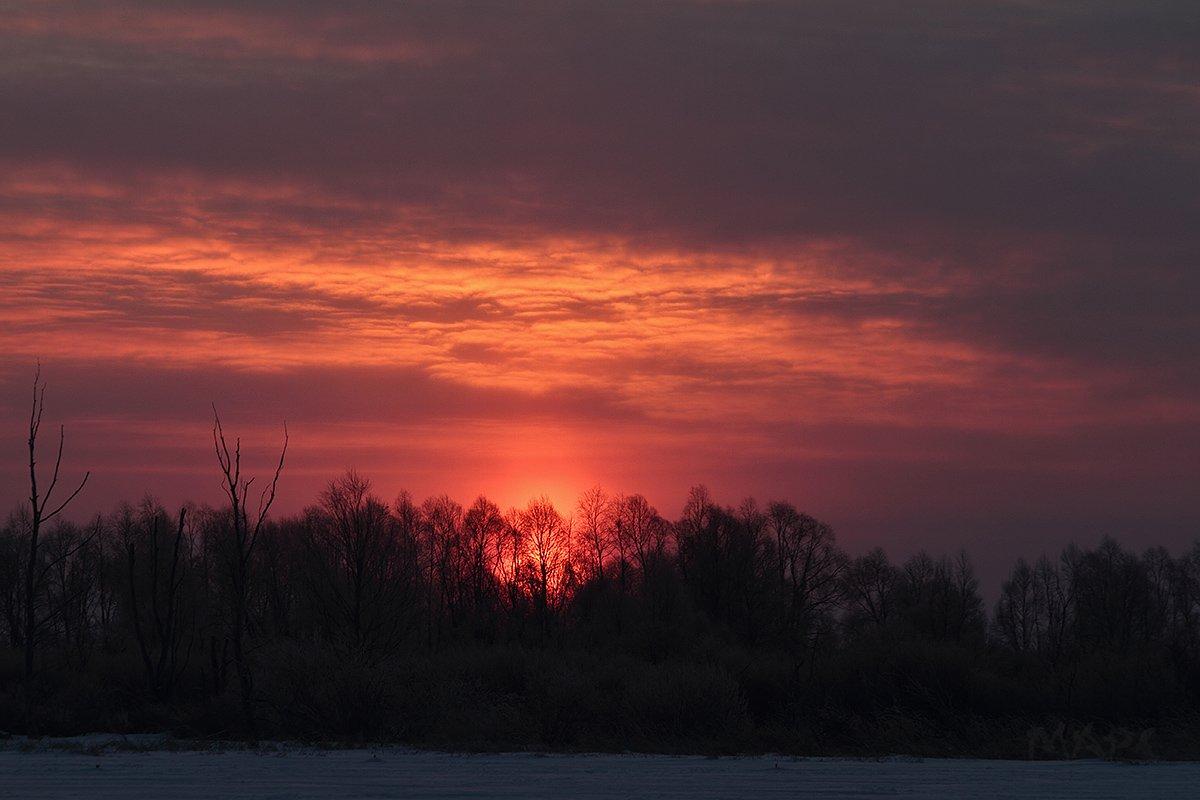 пейзаж зима мороз солнце, Шангареев Марс