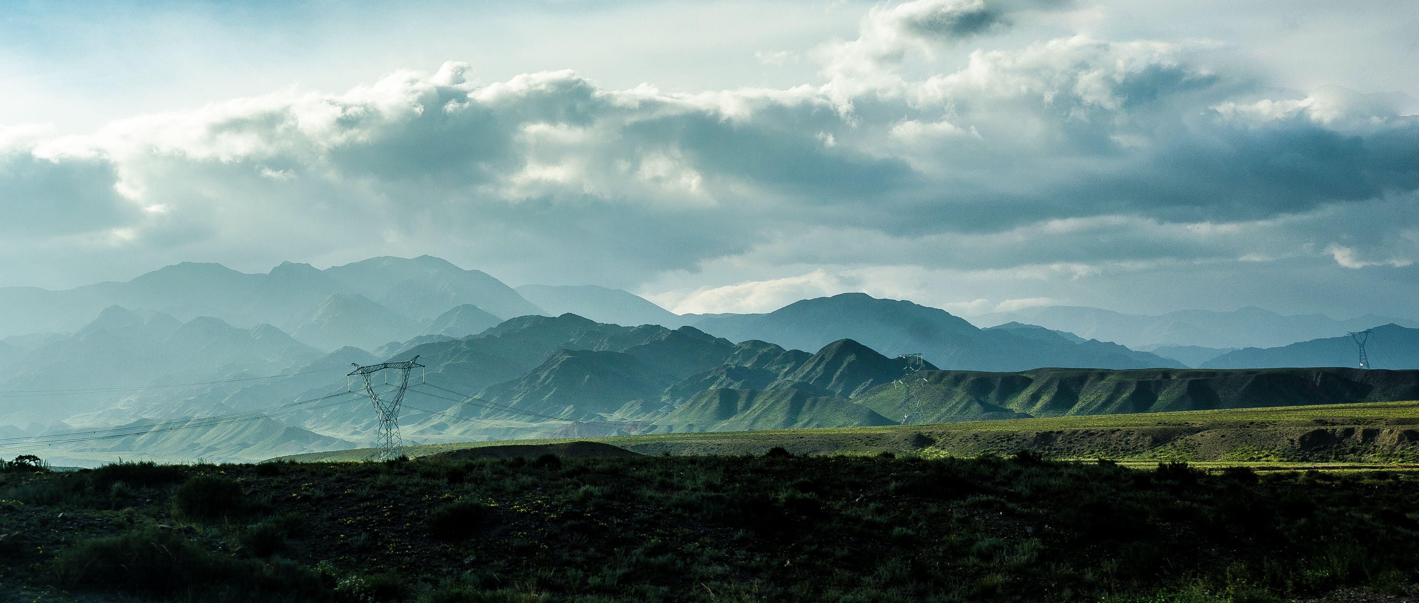 горы, закат, пейзаж, природа, вечер, Василий