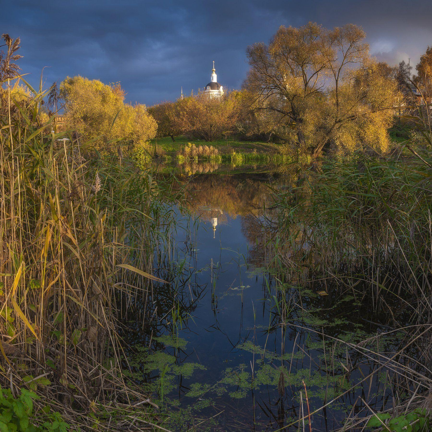 осень, храм, росиия,путешествие, природа, пейзаж, коломна, закат, небо, река, Павел Ныриков