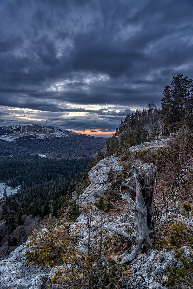 закат, рассвет, горы, лаго-наки, утюг, адыгея, краснодарский край, пейзаж,, Александр Хорошилов
