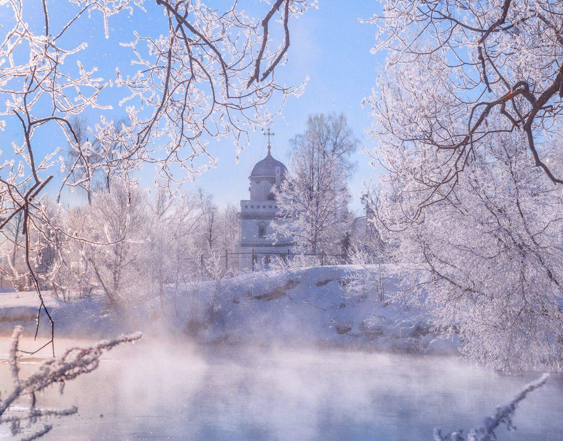утро, солнце, зима, мороз, Виктор Климкин