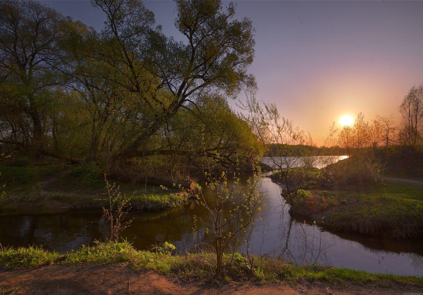#пейзаж #весна #подмосковье #чехов #красиво #природа #закат #вечер, Морозов Юрий