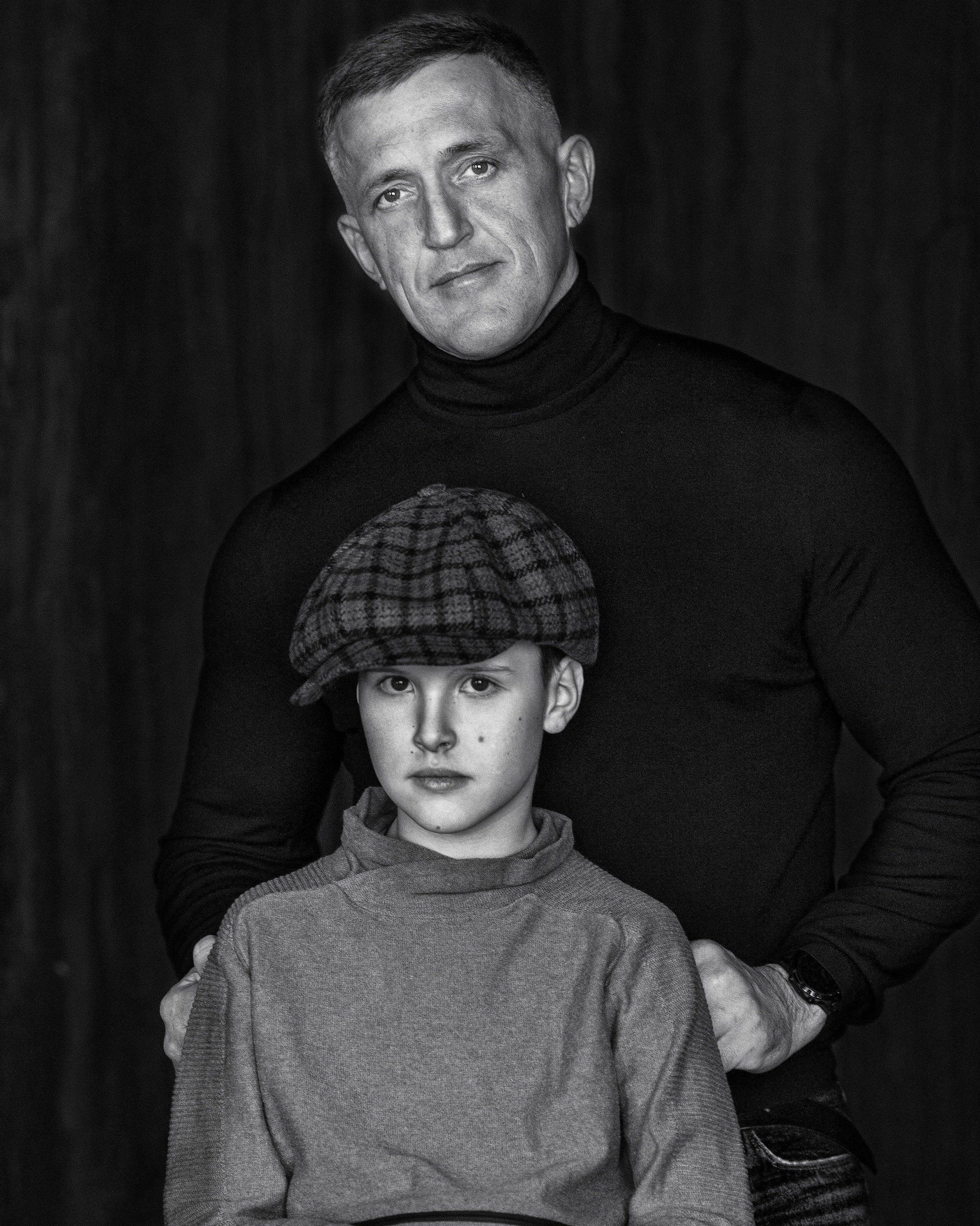 отец, сын , portrait, son , father, Сергей Мелефара