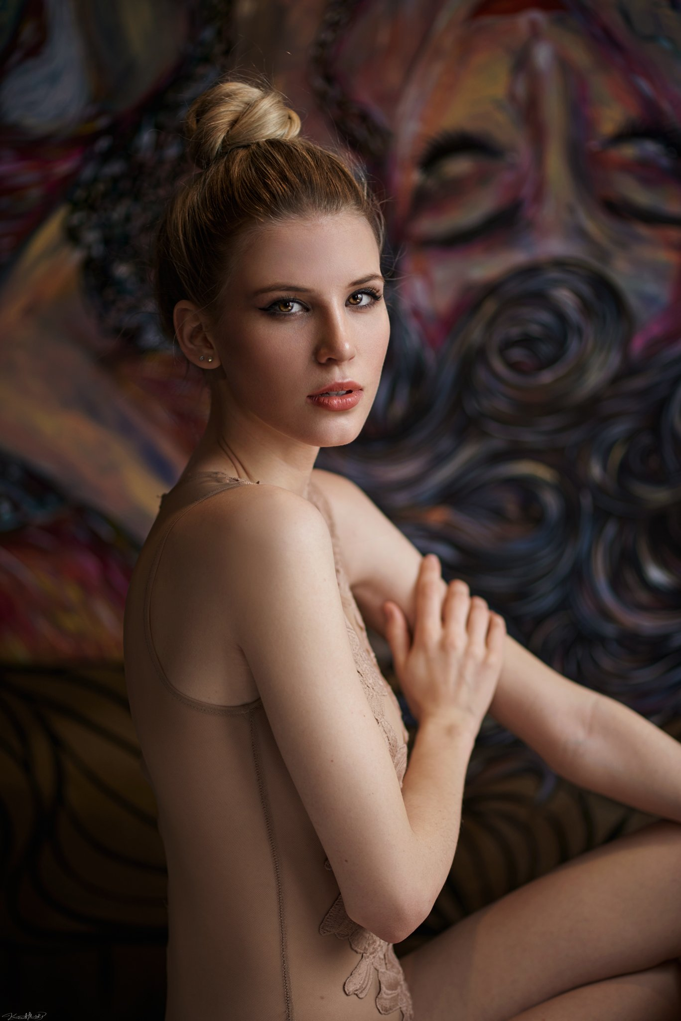 portrait, art, model, eyes, face, colors, natural, light, nikon, 85mm, Kaan ALTINDAL