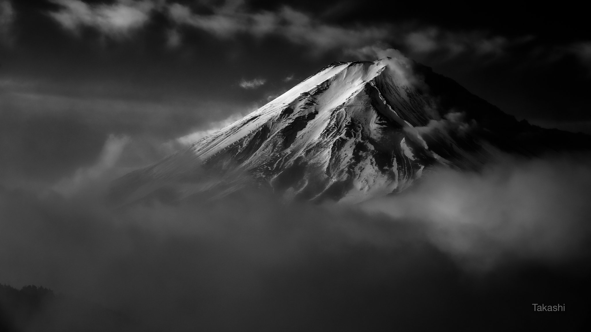 Fuji,Japan,mountain,clouds,snow,amazing,beautiful,, Takashi