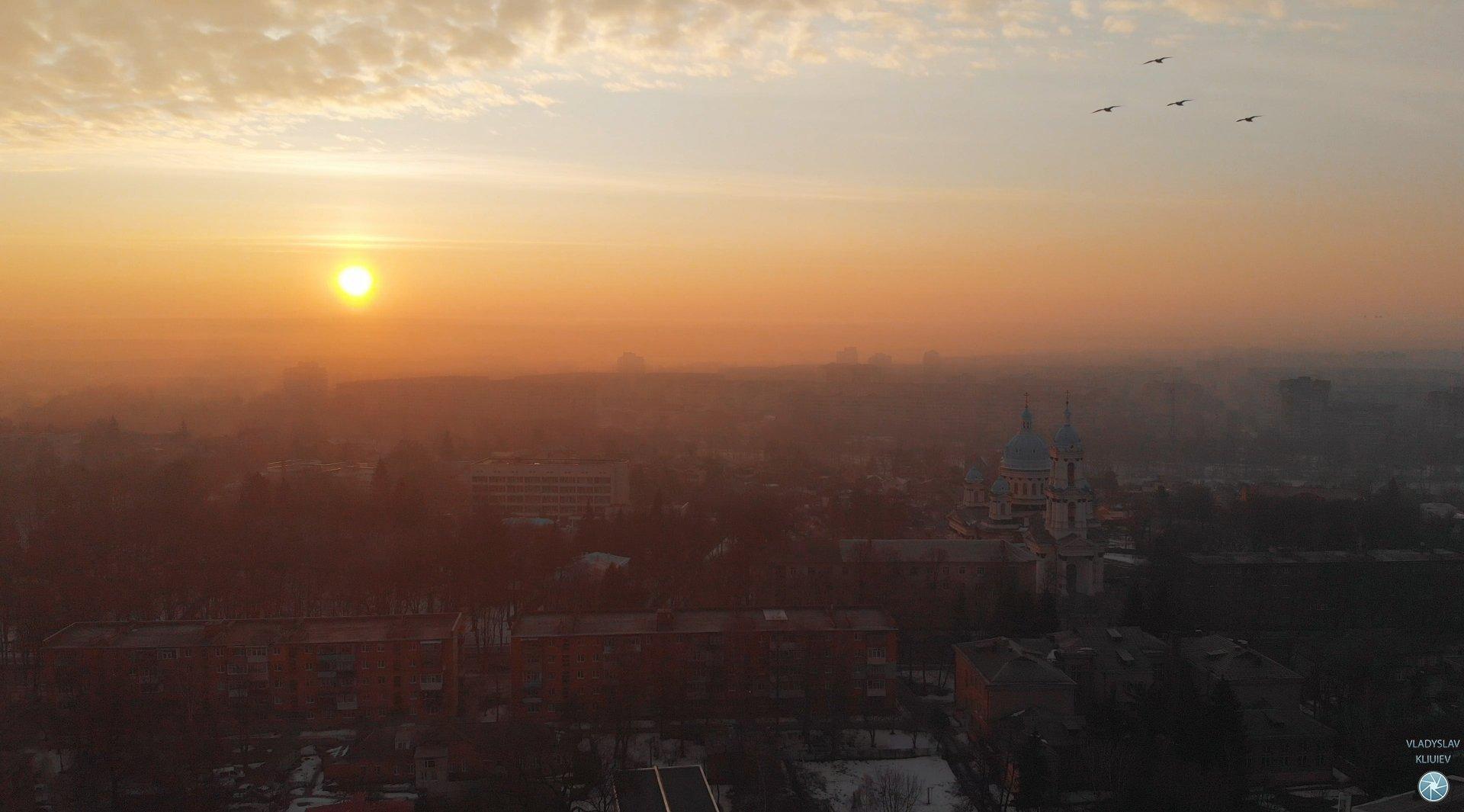 аэросъемка, пейзаж, панорама, Владислав