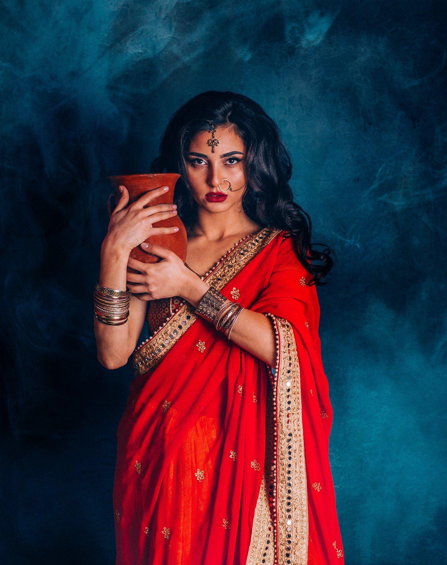 индианка, индия, индуска, сари,, красотка, портрет, брюнетка, Биличенко Оксана