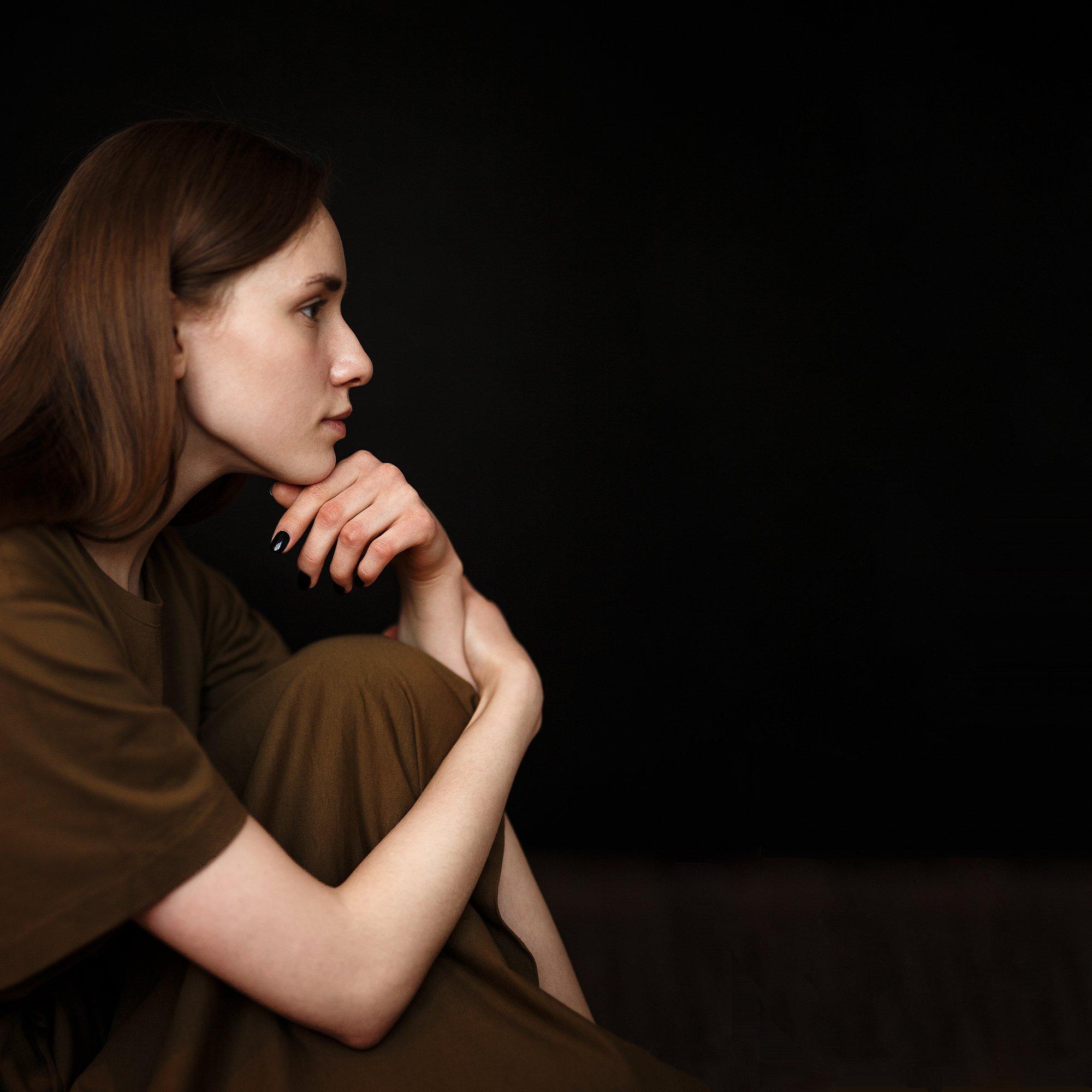 portrait, girl, people, color, eyes, light, девушка, studio, студия, портрет, head, свет, человек, эмоции, цвет, фотосессия, Иван Лосев