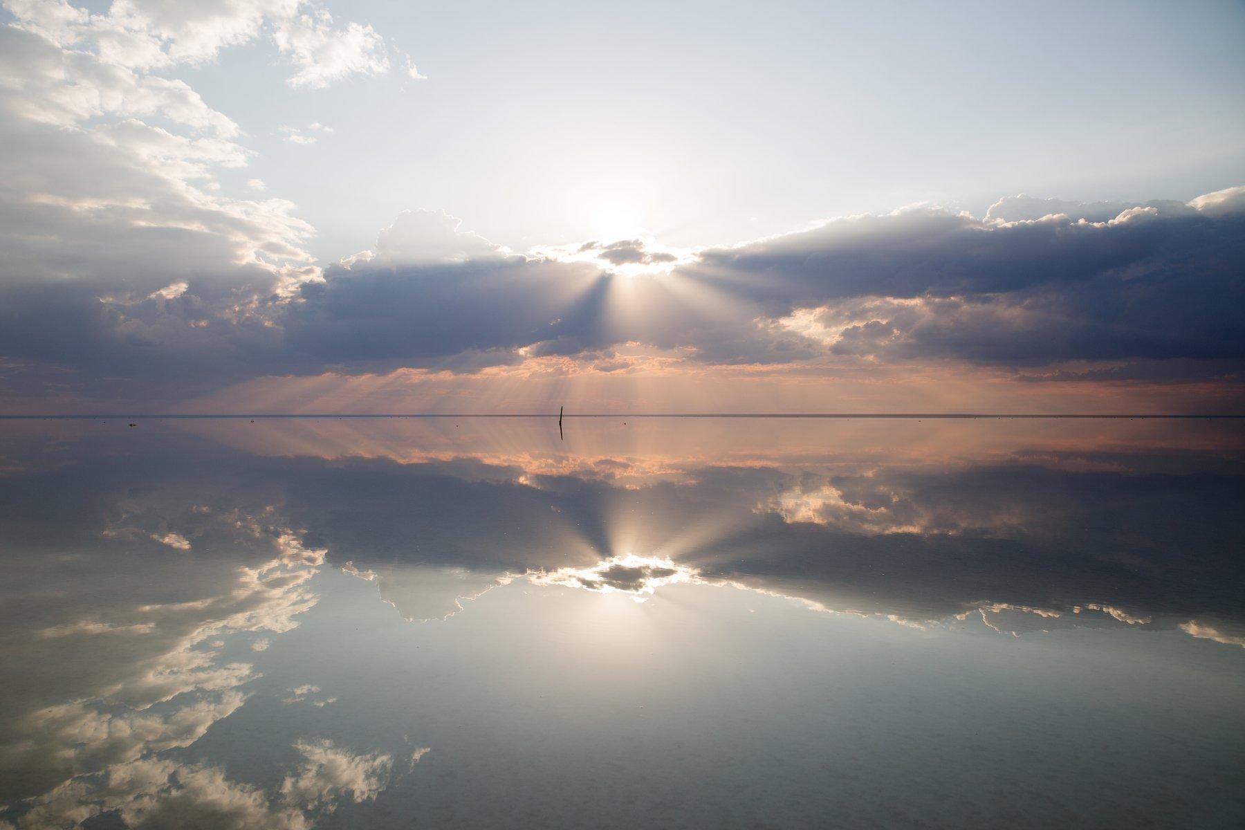фото , цвет , отражение , небо , солнце , вода , озеро  , эльтон, Федотов Вадим(Vadius)