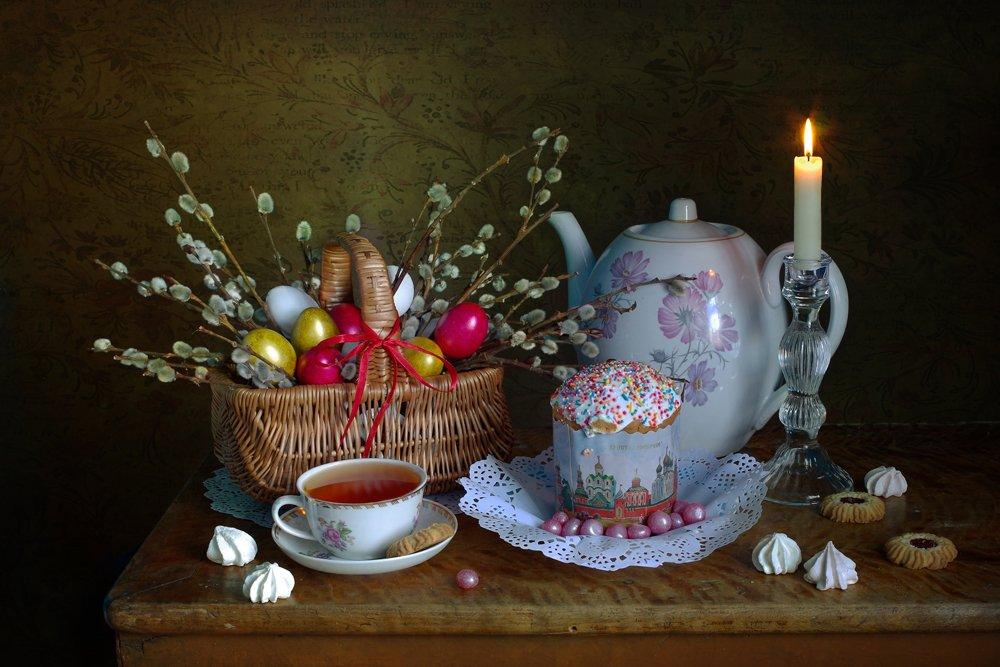 пасха,натюрморт,верба,пасхальное яйцо,в.павлухина,, Вера  Павлухина