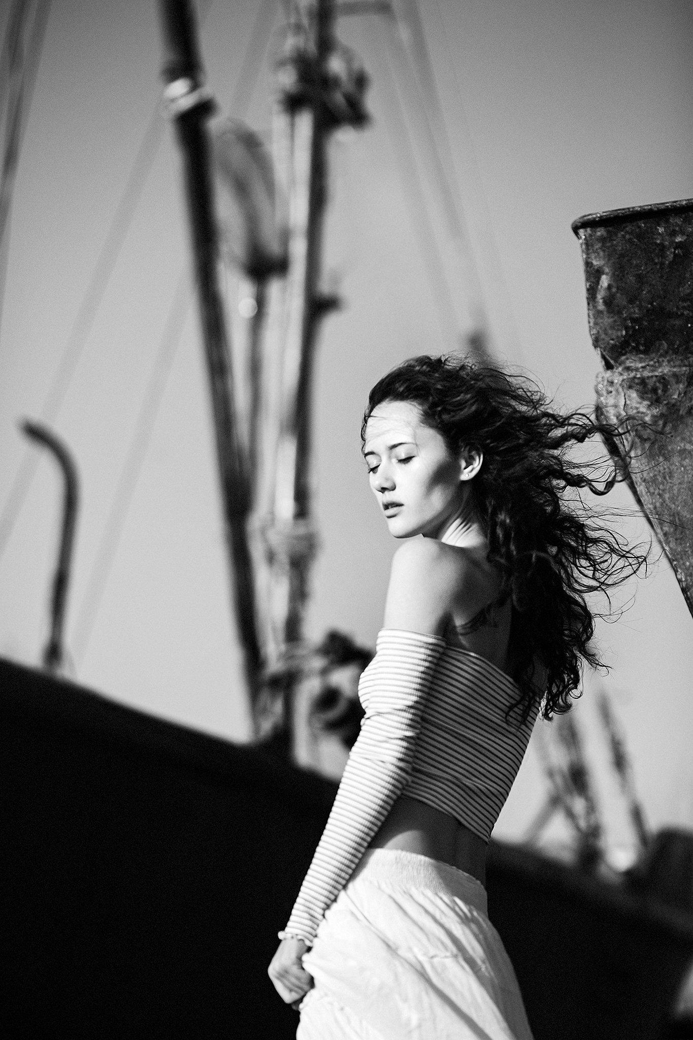 фото, портрет, девушка, море, ветер, Елена Daedra Алферова