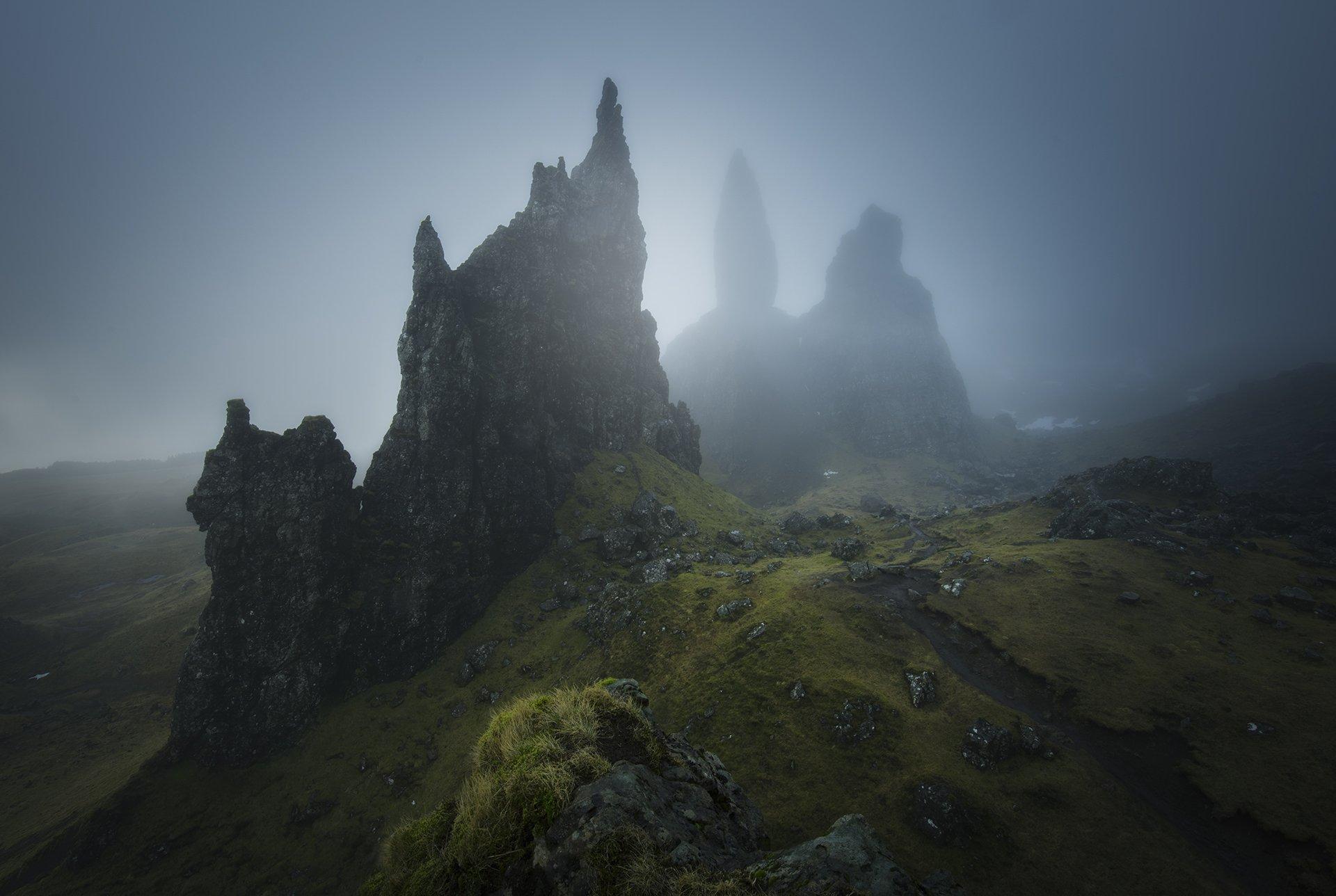 scotland, isleofskye, elgol, nature, landscape, пейзаж, clouds, dramatic, Genadi Dochev