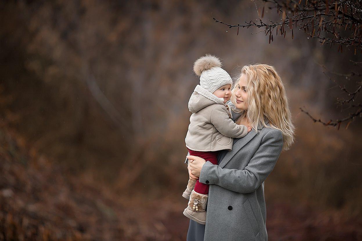 мама любовь нежность дочь семья весна, Юлия Твердова
