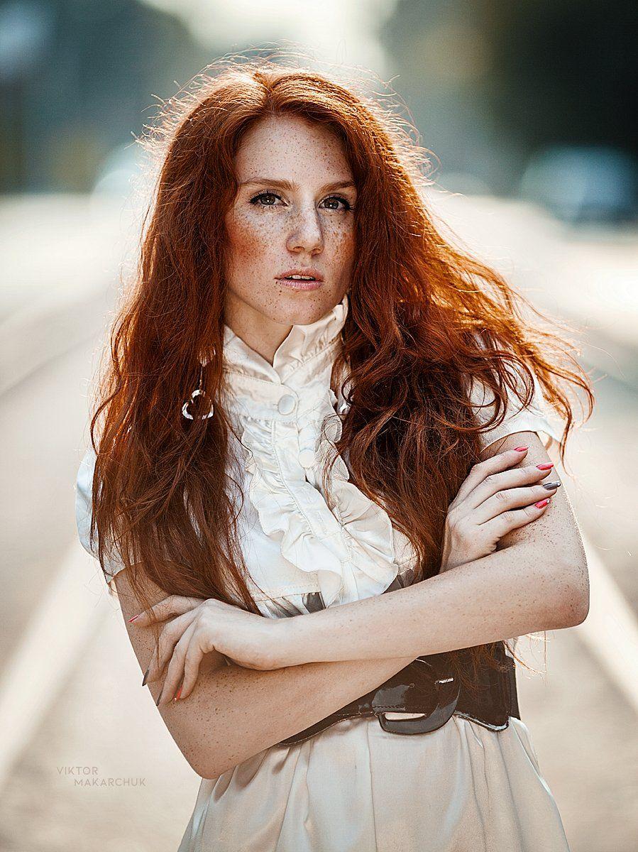 red, red hair, portrait, Виктор Макарчук