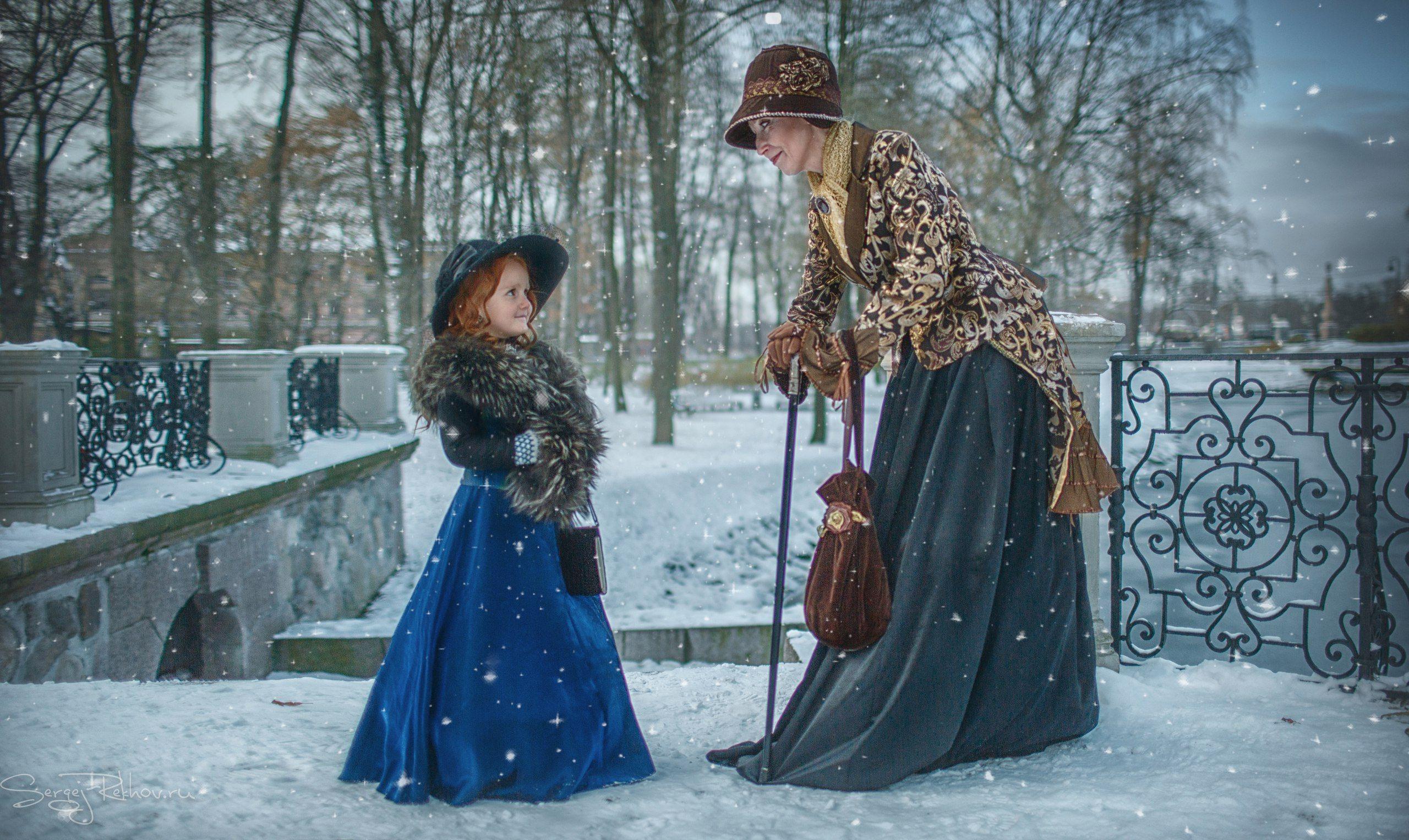 фея, сказка, парк, встреча, зима, снег, разговор, rekhov, Сергей Рехов