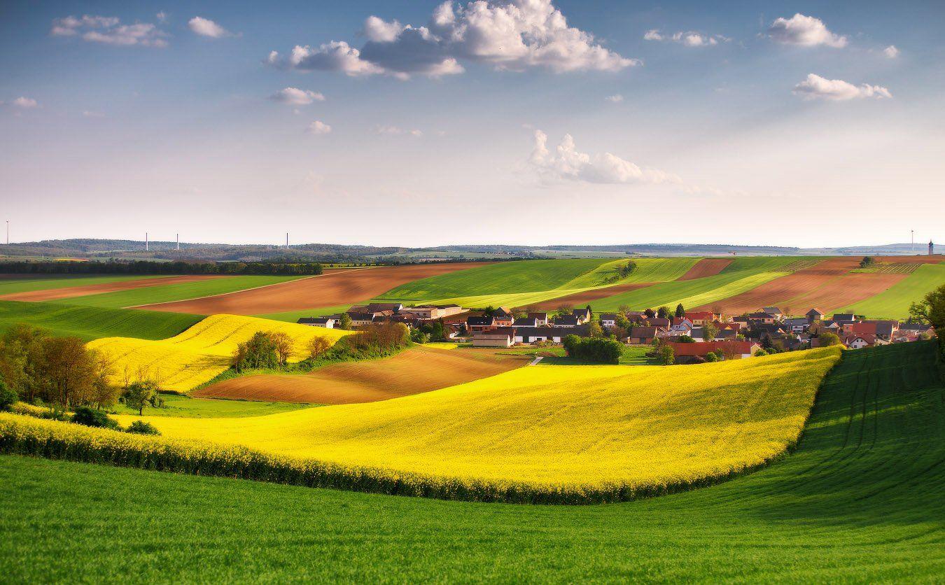 австрия, европа, весна, поля, Вейзе Максим
