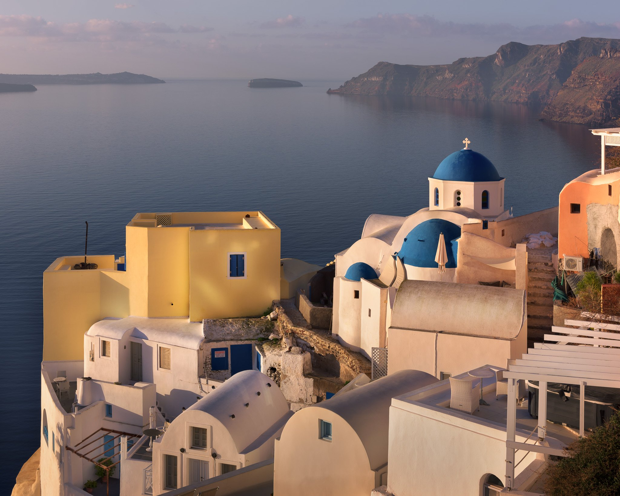 aegean, architecture, bell, blue, building, caldera, chapel, christian, church, city, cityscape, cross, cupola, cyclades, dome, europe, european, greece, greek, history, house, iconic, island, landmark, landscape, mediterranean, morning, nature, oia, oran, anshar