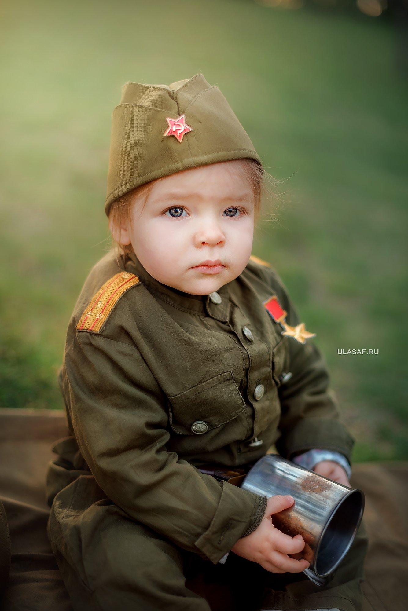 girl, portrait, девочка, портрет, война, 9мая, солдат, кружка, Юлия Сафонова