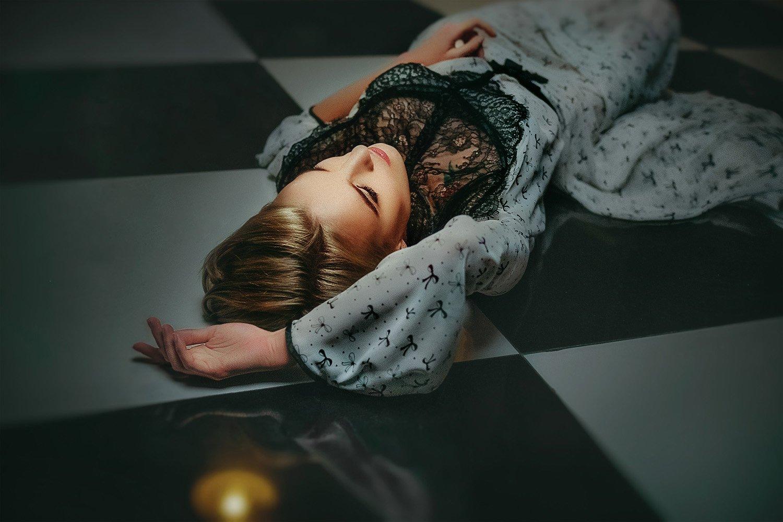 портрет, девушка, модель, взгляд, Крупина Татьяна