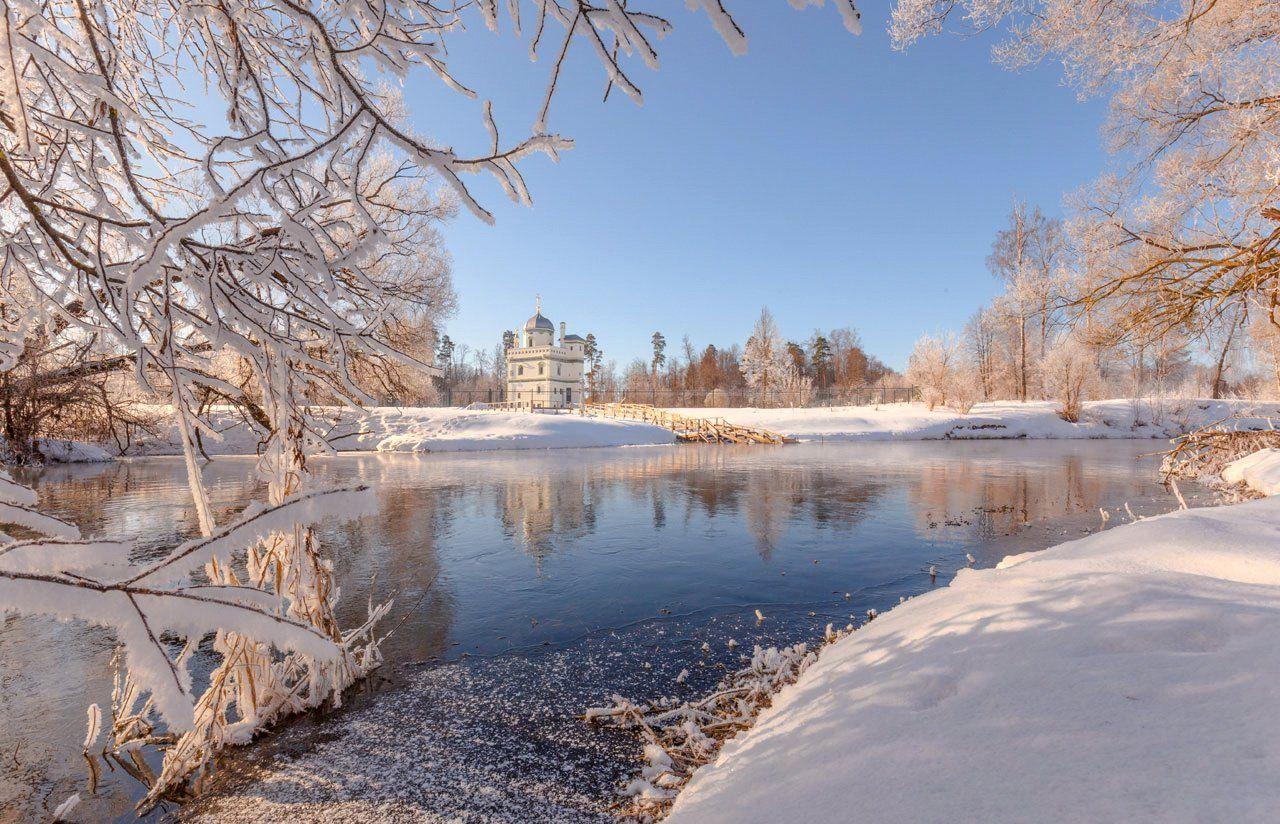 зима, река, утро, истра, Виктор Климкин