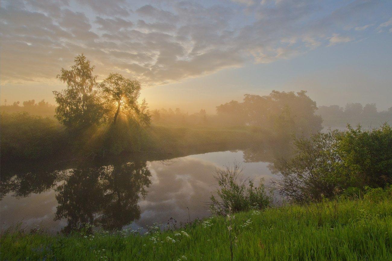 пейзаж, утро, рассвет, Михаил Агеев