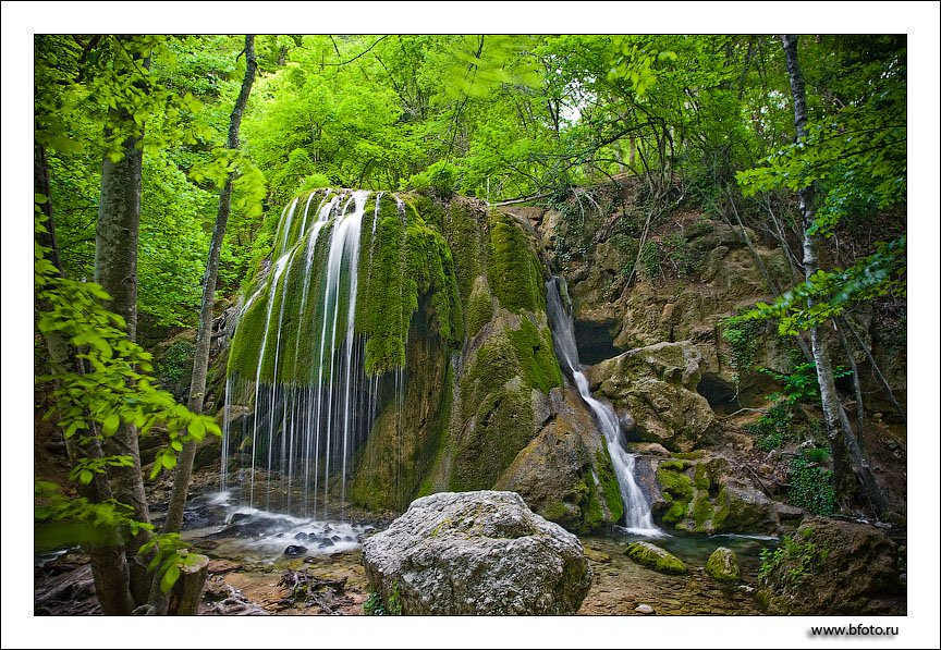 пейзаж, лето, крым, ялта, лес, водопад, Алексей Строганов www.BFoto.ru
