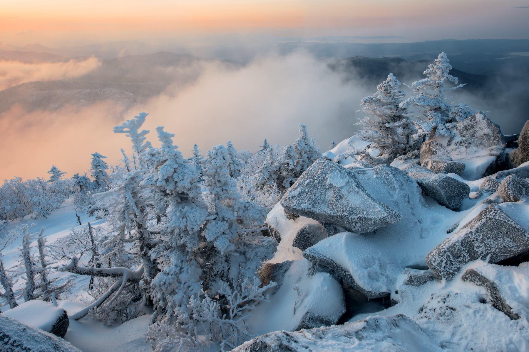 Снег, горы, Приморский край, зима, Виталий Берков