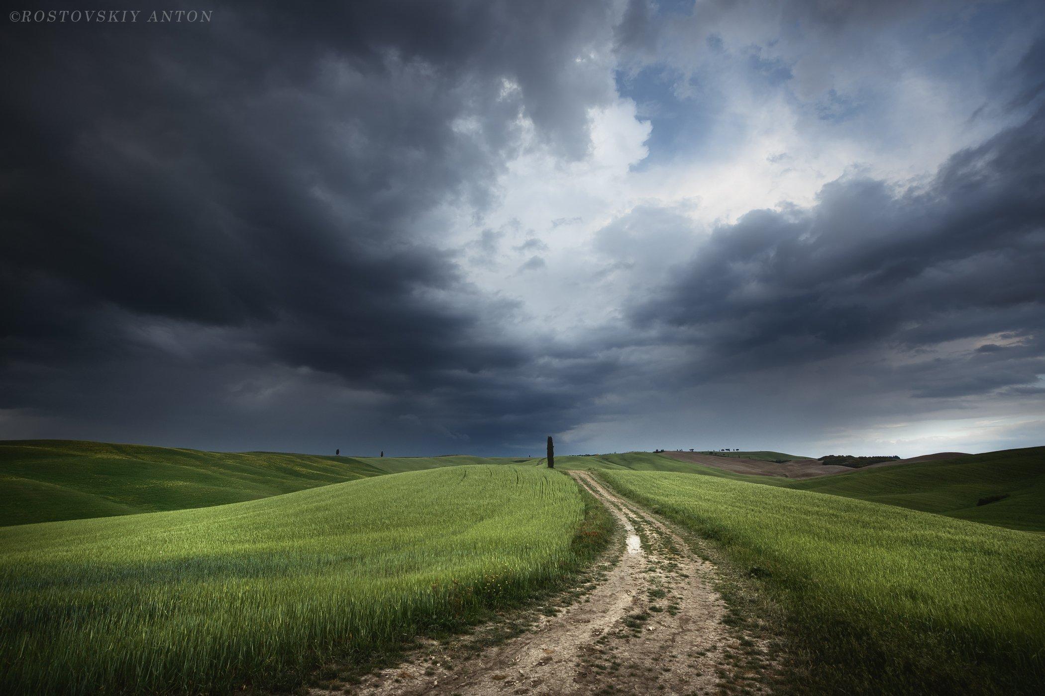 Тоскна, фототур, фотопутешествие, Италия, гроза, облака, небо, мая, Антон Ростовский