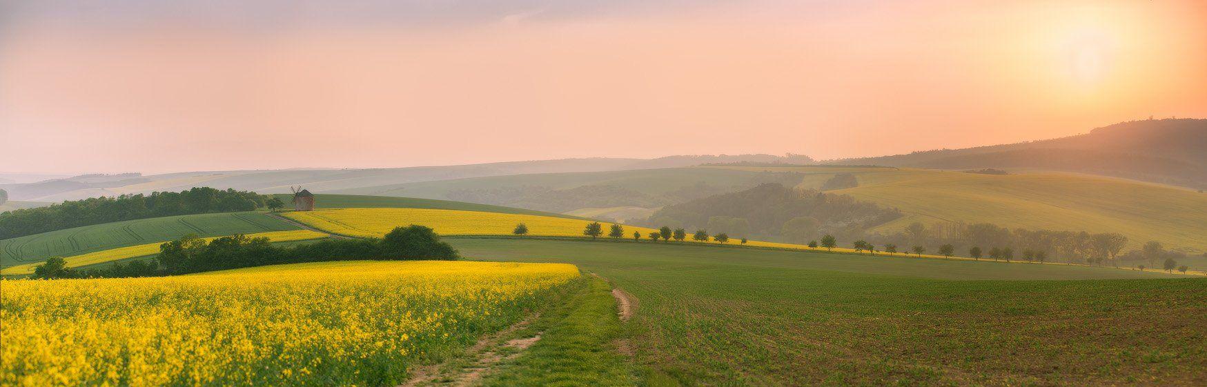 весна, вечер, европа, закат, май, моравия, чехия, Вейзе Максим
