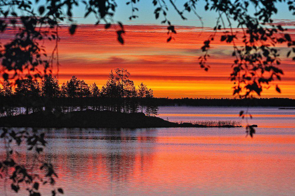 карелия, закат, озеро, белые, ночи, Лопухов Сергей